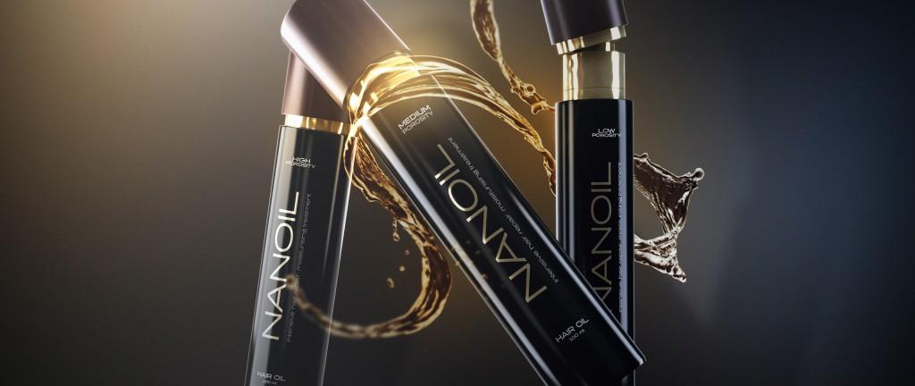Tre håroljorna från Nanoil